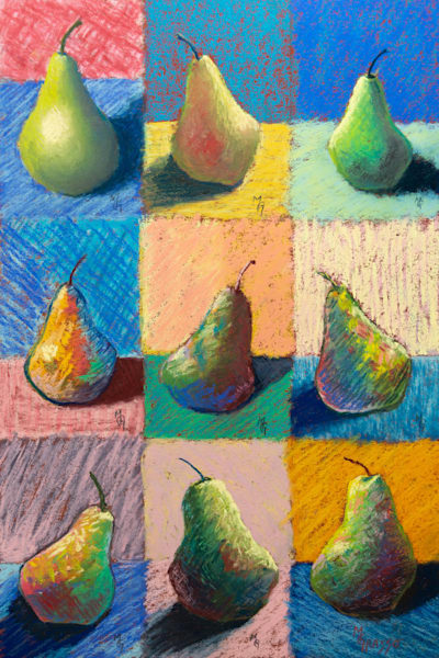 Pears Nine More Ways   Original Art   Mark Grasso Fine Art