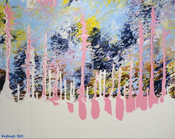 Pink Trees In Spring Art | Maciek Peter Kozlowski Art
