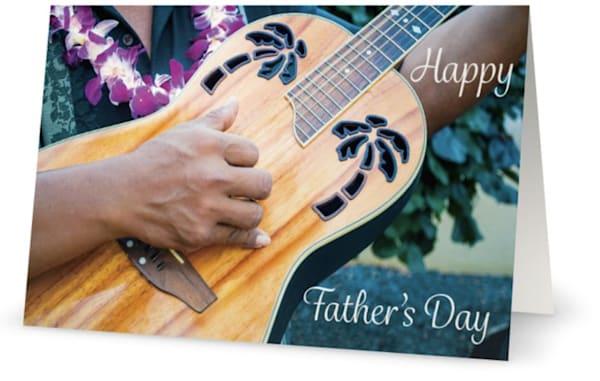 Father's Day Hawaii Guitar  Card | Bird In Paradise