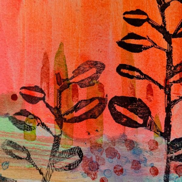 Fall Walk  Art | L BaLoMbiNi / red paint studio