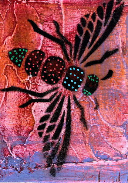 Red Dragonfly  Art | L BaLoMbiNi / red paint studio