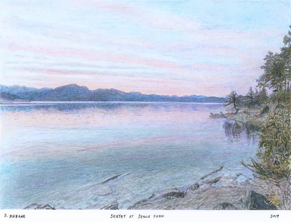 Sunset At Devils Fork Art | Digital Arts Studio / Fine Art Marketplace