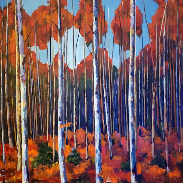 Large Birch Garden Art | Jenn Hallgren Artist