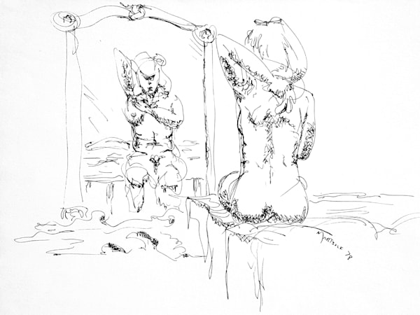 Woman Drying Herself after Bathing - Prints