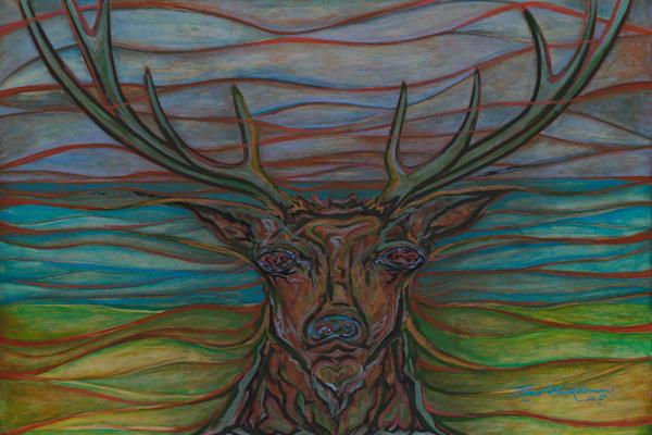 Emerging Elk Art | Kim P. Bartholomew