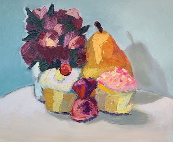 Cupcake Still Life 1 Art | Kelsey Showalter Studios