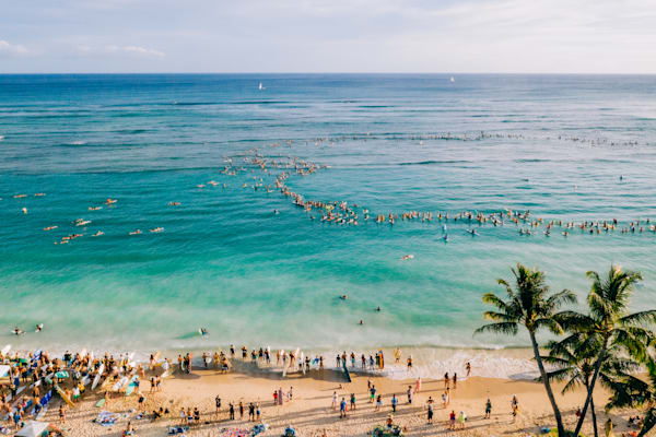 Paradise Paddle Out | Mk059 Art | Pictures Plus