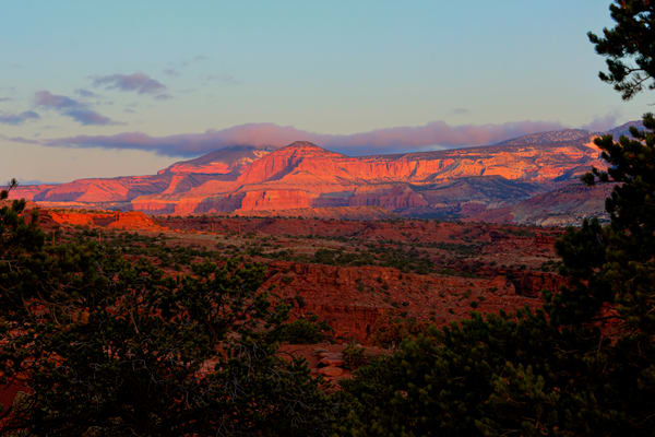 Sunrsise From Panorama Point In Capitol Reef National Park Photography Art | RAndrews Photos