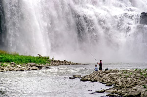 Lower Falls Of The Genesee River In Rochester, Ny Photography Art | RAndrews Photos