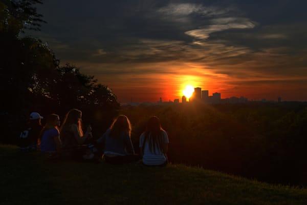 Rochester Skyline At Sunset Photography Art | RAndrews Photos