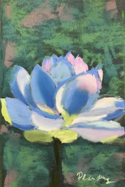 Lotus en Bleu Print   Mary Planding