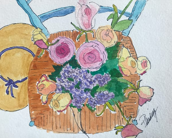 Whimsical Roses (print) | Mary Planding