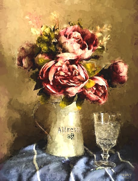 Peonies And Crystal Art   CastroLux Art Sales