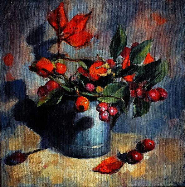 Red Berries Art   CastroLux Art Sales