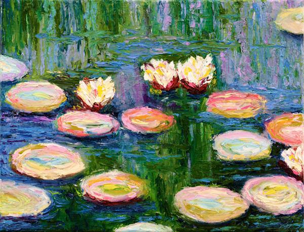 Ode To Claude, Water Lilies 1916, Zoom • Original Art | Kate Wilson Fine Art