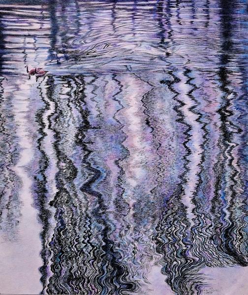 Travelers In Water Reflections Art | lencicio