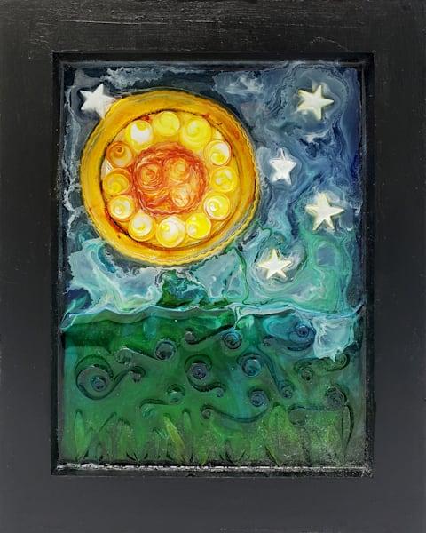 Moonlight Over The River Art | Lynne Medsker Art & Photography, LLC