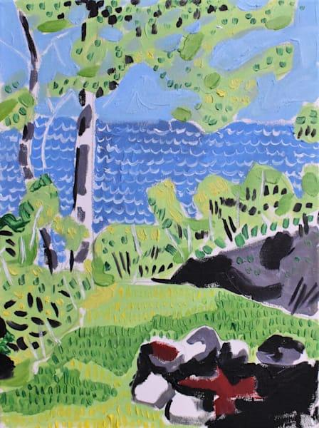 Camping On Gitchee Gumee Art | eddie hamilton art