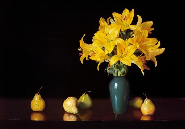 Yellow Lilies Art   CastroLux Art Sales