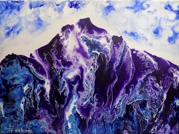 Purple Mystic Mountains Art | treshamgregg - spiritart