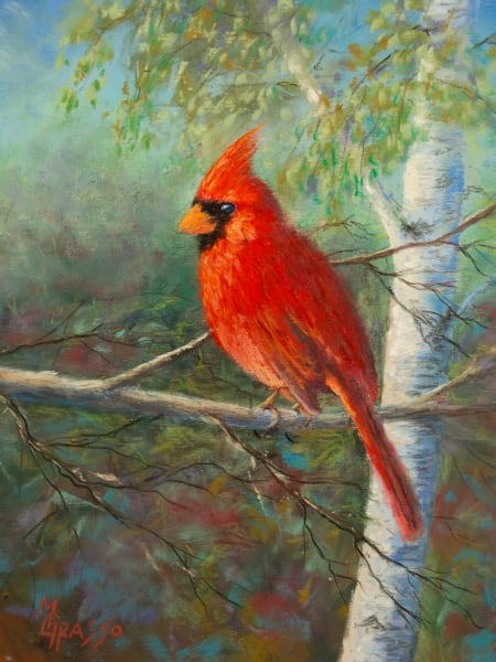 Evening Cardinal Art | Mark Grasso Fine Art