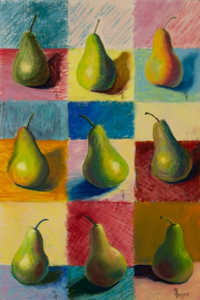 Pears Nine Ways Art | Mark Grasso Fine Art