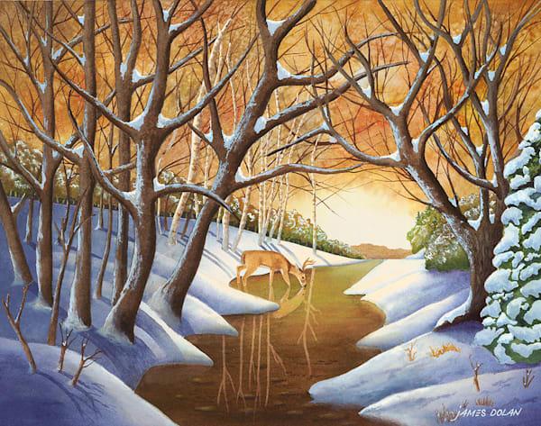 """Winter Thirst"" fine art print by Jim Dolan."