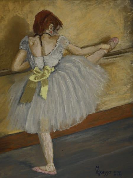 Dancer At The Bar   Original After Degas Art   Mark Grasso Fine Art