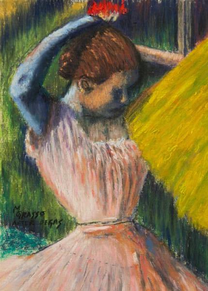 Dancer Arranging Her Hair   Original After Degas Art   Mark Grasso Fine Art