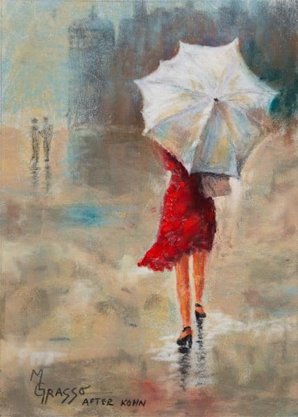 Lady In The Red Dress   Original After Kohn Art   Mark Grasso Fine Art