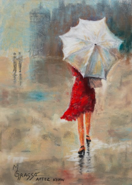 Lady In The Red Dress Art | Mark Grasso Fine Art
