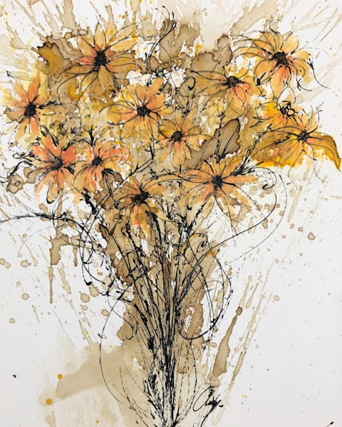 Black Eyed Susan Wildflower Painting