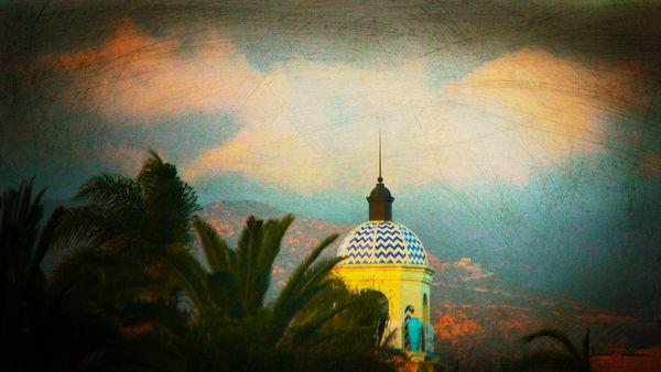 lastlight sunsets landscapes colonial architecture santabarbara jackierobbinsstudio photographicprints buyartonline