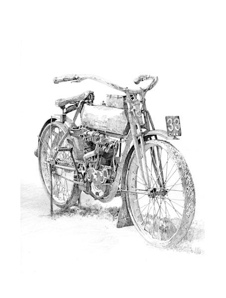 Barn Find Pencil Art   Andre Junget Illustration LLC