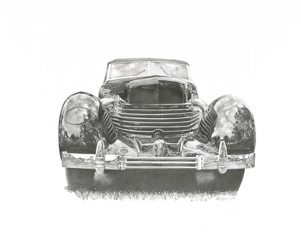 Cord 810 Pencil Art   Andre Junget Illustration LLC