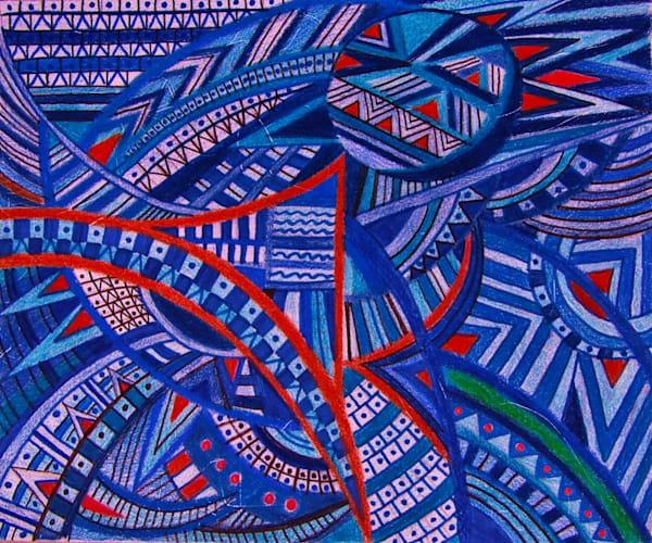 Blue Tapestry Of Design | lencicio