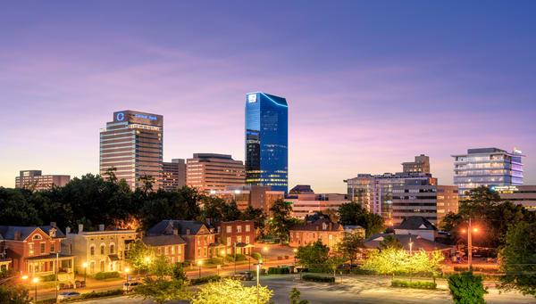 Lexington Skyline at Night 0453pan