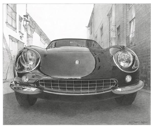 Ferrari 275 Gtb Pencil Art   Andre Junget Illustration LLC