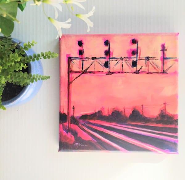 Sunset Side Of The Tracks Art | Lesley McVicar Art