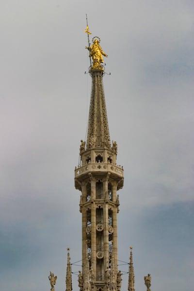 The Madonnina atop the Great Spire of Duomo di Milano