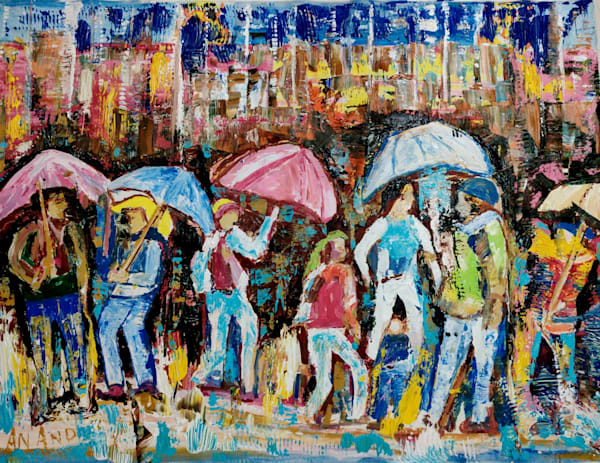 A Showery Day Of New York Art   Art Impact® International Inc