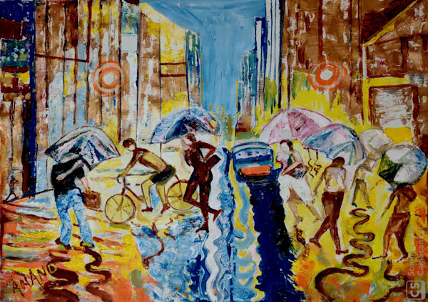 A Rainy Day In New York Art   Art Impact® International Inc