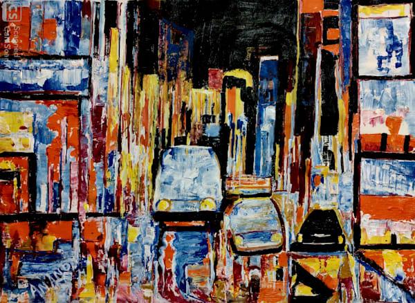 A Busy Street Of New York Art   Art Impact® International Inc