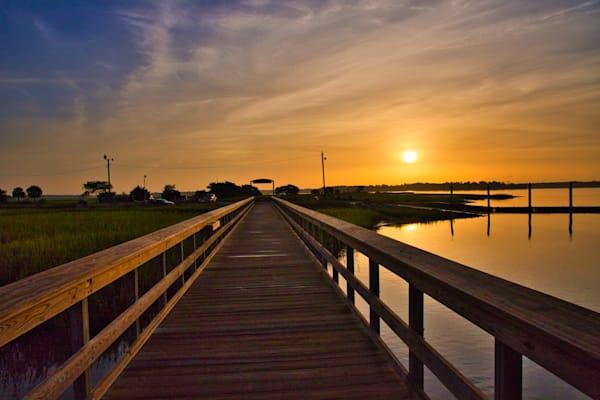Sands Boardwalk Sunrise Photography Art   Willard R Smith Photography