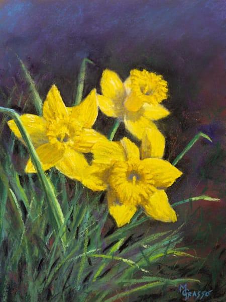 Three Little Daffodils   Original Art   Mark Grasso Fine Art