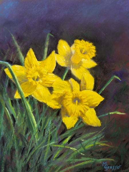 Three Little Daffodils Art | Mark Grasso Fine Art