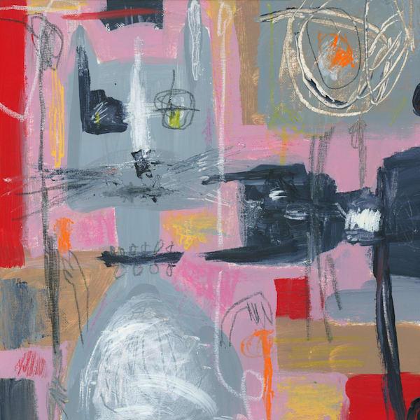 Abstract Cat Painting by Marsha Gray Carrington
