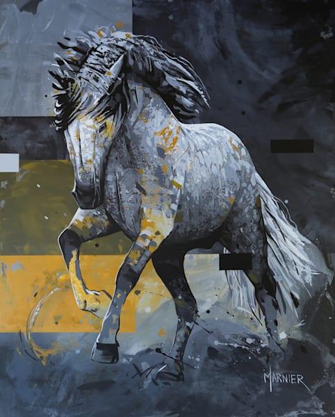 Horse, wild animal, painting, acrylic, Marnier artist