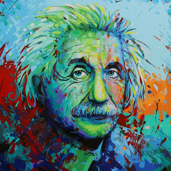 Albert Einstein III, Marnier art, acrylic painting
