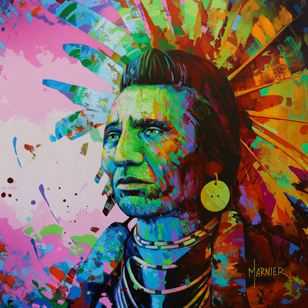 Chief Eagle, Marnier, Art, High-Quality HD Print